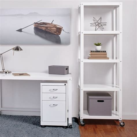 Industrial Modern Mobile Etagere Bookcase