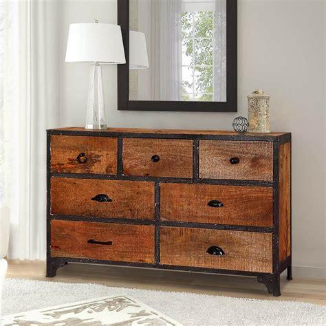 Industrial Wood Dresser