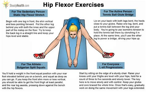 inflamed hip flexor muscles stretches