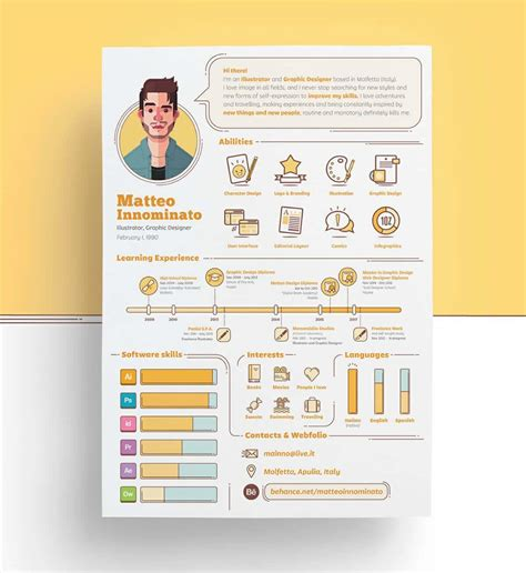 infographic resume template download creative resume template download free psd file free