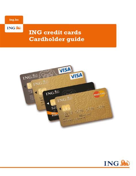 Credit Card 457 Visa Holder Ing Credit Cards Cardholder Guide