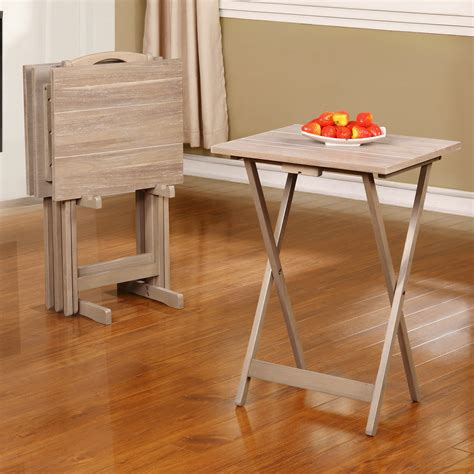 Ingleside 5 Piece Acacia Tray Table Set