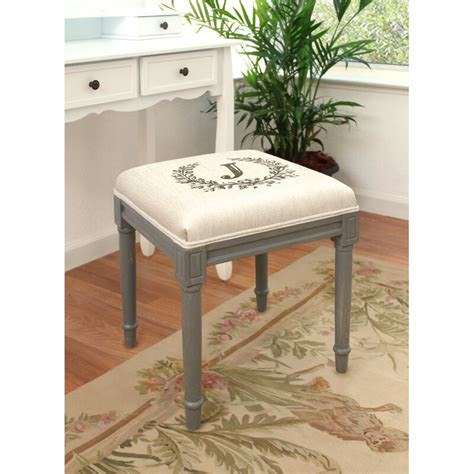 Initials and Monogram Vanity Stool