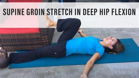 inner groin and hip flexor stretch video on skype