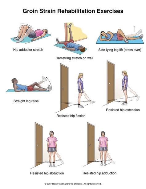 inner hip flexor exercises after hip pinning physical therapy