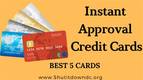 Credit Card Approval Process Instant Approval Credit Cards Apply For 60 Sec Response