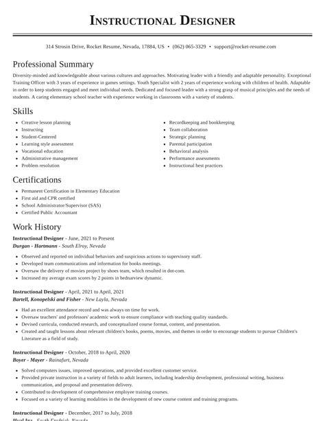 instructional design resume samples sample trainer resume best sample resume - Instructional Designer Resume Sample