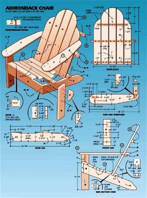 instructions for building an adirondack chair