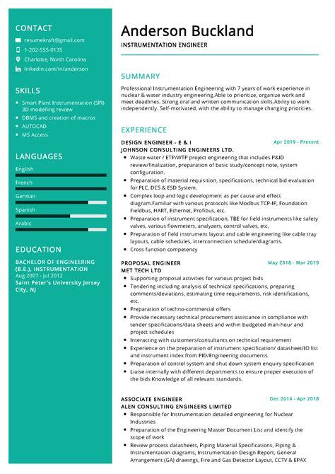instrumentation design engineer resume sample instrument engineer resume example best sample resume - Instrumentation Design Engineer Sample Resume