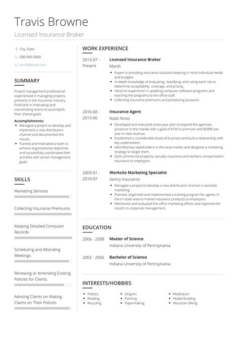 resume examples insurance agent insurance agent resume samples visualcv