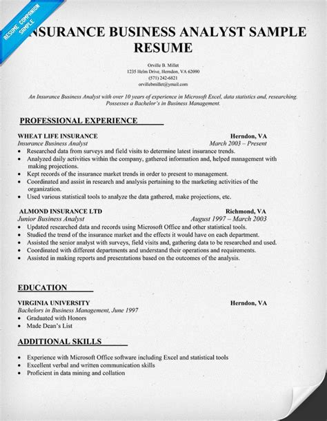 beautiful guidewire business analyst resume contemporary simple