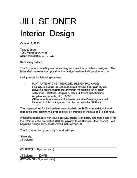 Interior Design Proposal Cover Letter Sample Letters