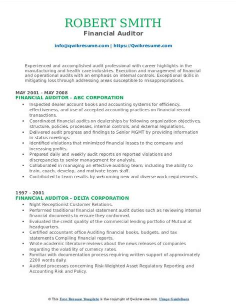 auditor resume examples 16 internal auditor resumes financial auditor resume sample