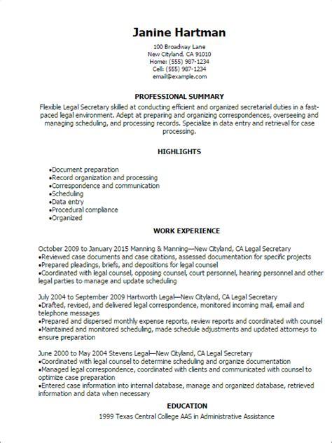 internal job resume template legal secretary resume template my perfect resume