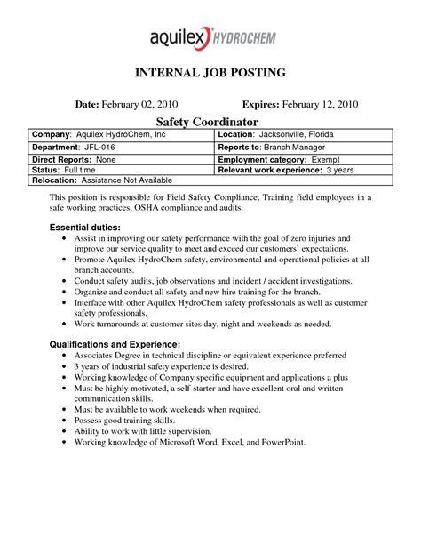 internal job resume template internal job posting resume format 3 scribd