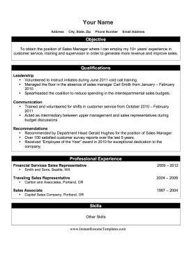 resume for internal promotion template