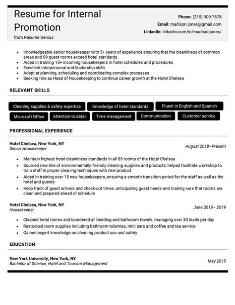 resume sample for internal job posting creating a resume for an internal promotion