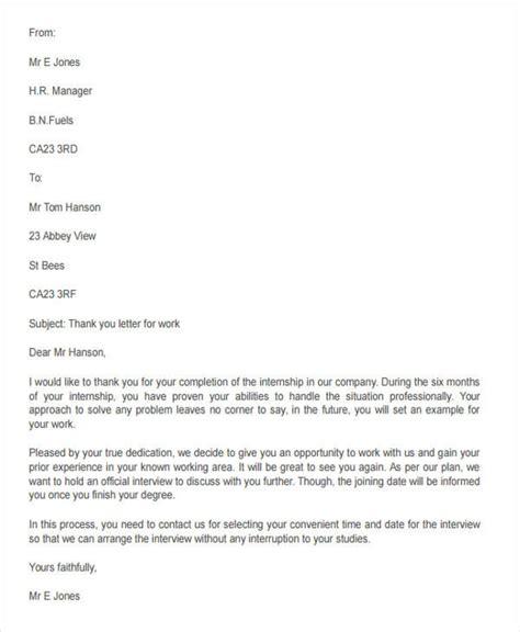Internship Letter Of Appreciation Appreciation Letter Sample Appreciation Letter Format