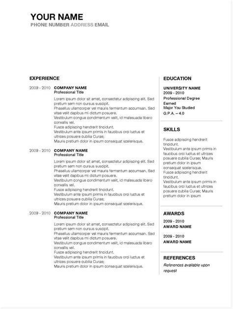 Internship Resume Templates For Microsoft Word Microsoft Word Resume Template 99 Free Samples