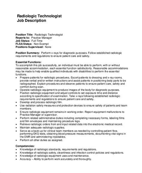 sample resume radiologic technologist interventional radiology technologist job description - Sample Resume For Radiologic Technologist