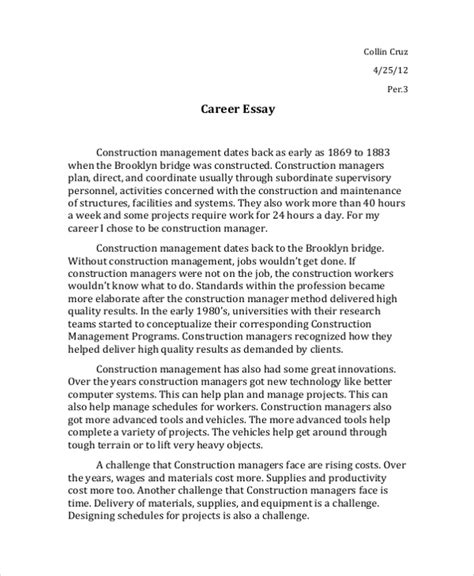 interview essay outline