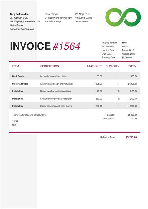 invoice example us | invitation letter sample research, Simple invoice