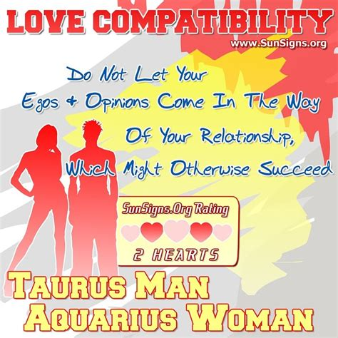 Taurus-Question Is A Female Taurus Compatible With A Male Aquarius.