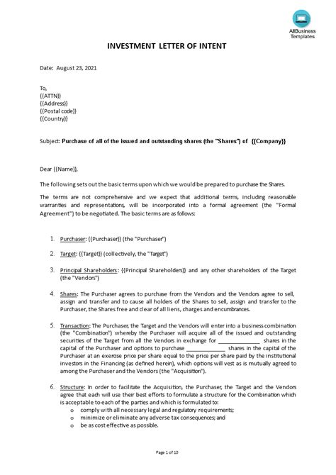 Is A Letter Of Intent A Legal Contract Letter Of Intentinvestment Legal Forms Attorney