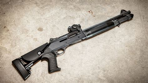 Benelli Is Benelli M4 Rifled.