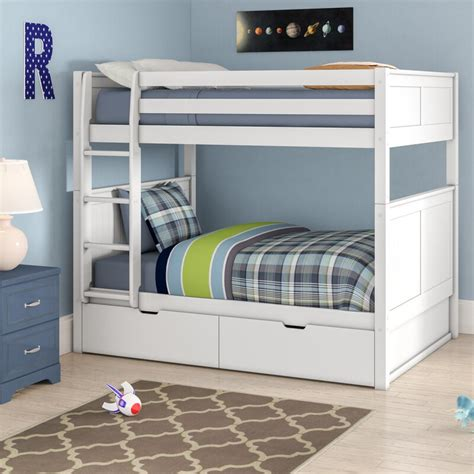 Isabelle Full over Full Bunk Bed with Storage byViv + Rae