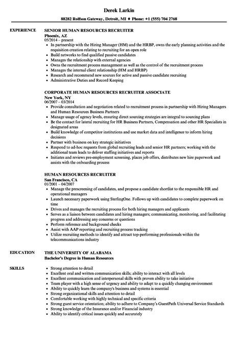 it recruiter resume sample hr recruiter resume sample two hr resume