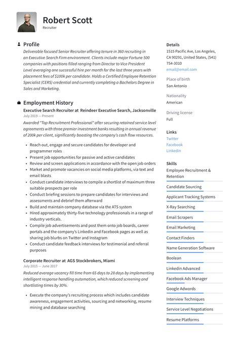 it recruiter resume resume professors certified professional resume writing