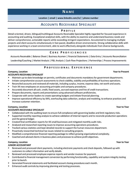 It Specialist Resume Cover Letter Accounting Resume And Cover Letter Center Accountant Jobs
