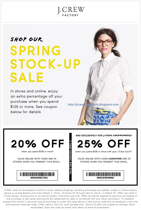 J Crew Credit Card Apr Jcrew Factory Promo Codes Coupon Cabin