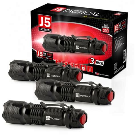 [click]j5 Tactical Flashlight  Ebay.