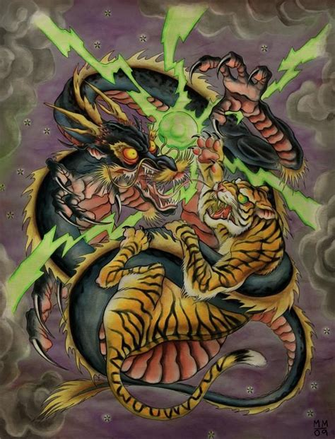 Japanese Art Snake Vs Tiger Find Your Focus – End Procrastination.