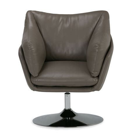 Jasper Air Leather Swivel Barrel Chair