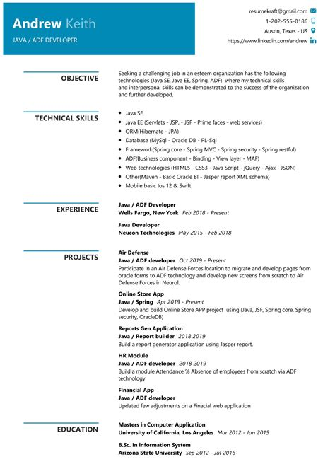 Java Resume Sample Sample Student Resume And Tips