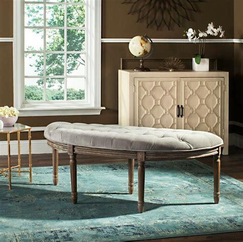 Javed Semi-Circle Upholstered Bench