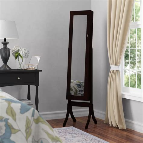 Jedidiah Jewelry Armoire with Mirror