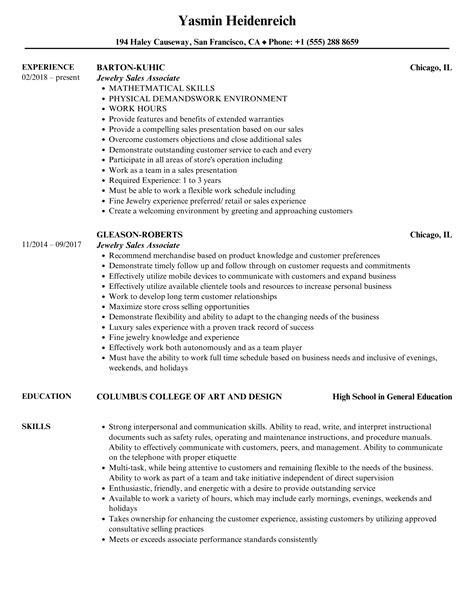 sales associate in retail resume examples jewelry sales associate resume example - Sales Associate Resume Examples