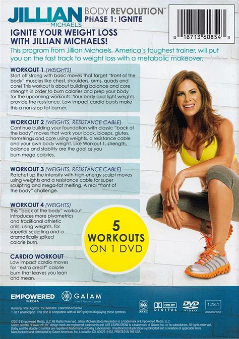 jillian michaels body revolution cardio 2 calories burned
