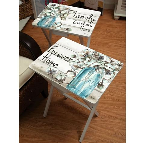 Jimmy Forever Home 2 Piece Tray Table Set