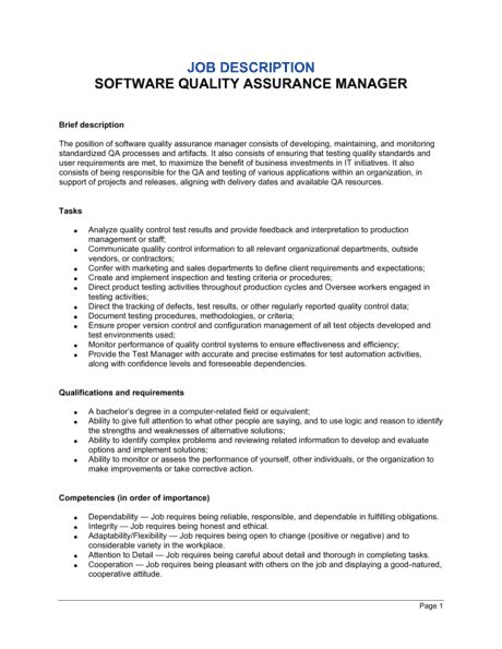 Cover letter quality assurance analyst   Original content Template net