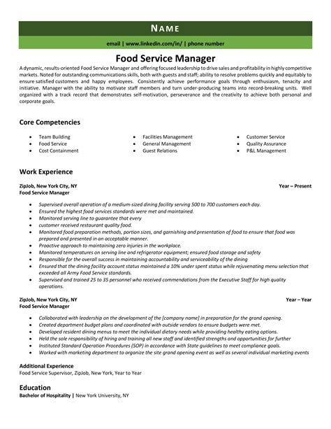curriculum vitae ejemplos wikipedia sample resume for food service