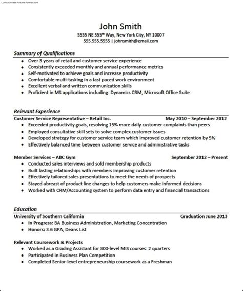 job specific resume format free resume template for openoffice