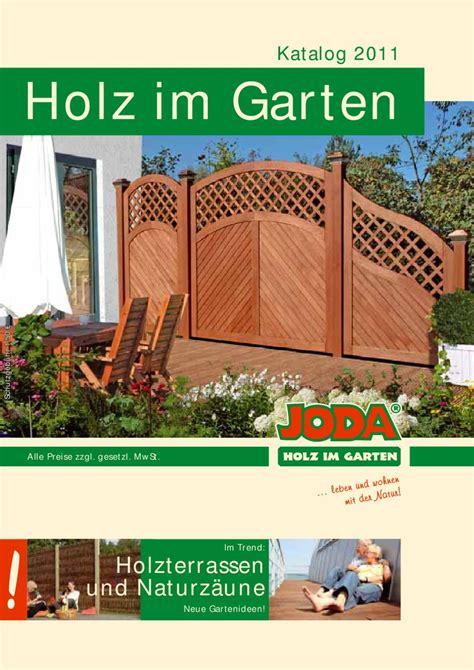 Joda Holz Im Garten Katalog 2016