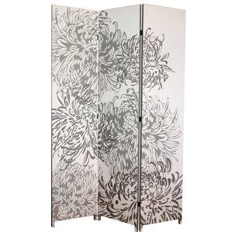 Johnnie 71 x 48 Chrysanthemum 3 Panel Room Divider