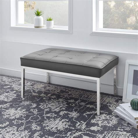 Joiner Faux Leather Bench