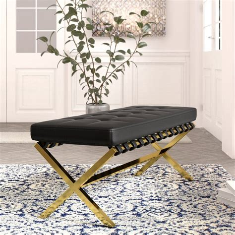 Jolie PU leather Tufted Bench